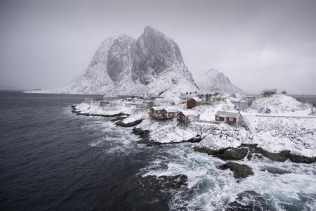 A winter day in Hamnoy, Lofoten Islands, Norway