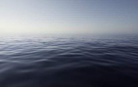 Sea view y a calm and quiet day, mediterranean sea, Italy Stock Photo