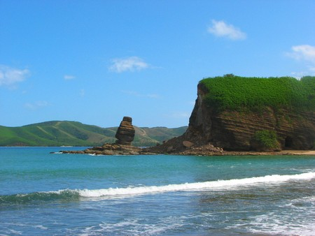 attrition: Rock formations in Bourail, New Caledonia, South Pacific Stock Photo