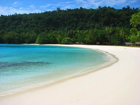 美しい、有名なシャンパン ビーチ、バヌアツ、南太平洋
