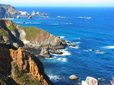 ビッグサー、カリフォルニア州近くの崖 写真素材
