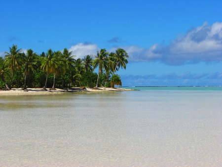 Tropical beach in Maupiti, French Polynesia photo