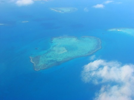 Aerial view on a small island, New Caledonia, South Pacific