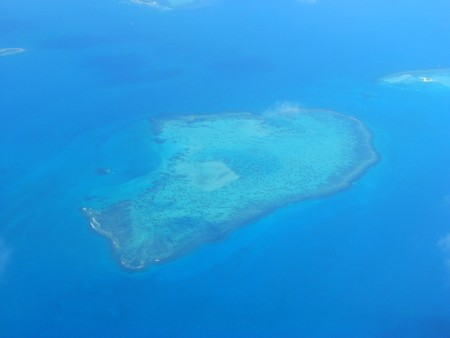 Aerial view on a small island, New Caledonia, South Pacific photo