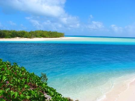 Beautiful beach on Mouli, Ouvea island, New Caledonia, South Pacific