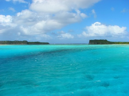 View from Mouli Bridgei, Ouvea island, New Caledonia, South Pacific