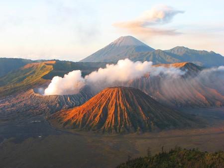 Sunrise in Mount Bromo National Park, Java, Indonesia photo