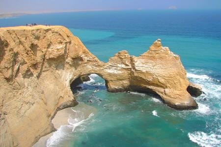Rock formations at Paracas Peninsula, Peru