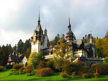 シナイア城、ルーマニア、ヨーロッパ 写真素材
