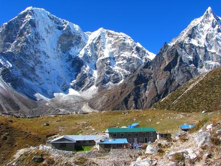 himalayas: Small village in Sagarmatha National Park, Himalayas, Nepal Stock Photo