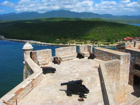 城サン Pedro de ラ ロカ ・ デル ・ モロ Santiago de キューバ、キューバ 写真素材