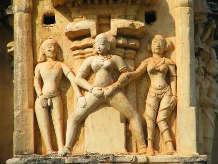 Stone carved erotic sculptures in Hampi, India Stock Photo - 13037389