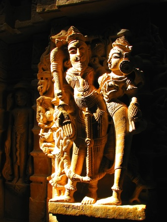 Stone carved sculptures in Jain temple in Jaisalmer, India Stock Photo - 13060875