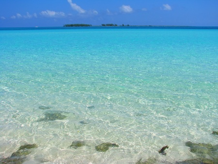 rippled: Clear water on beach side, Cayo Guillermo, Cuba