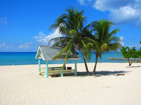 beach hut: Beach hut on Seven Mile Beach, Grand Cayman, Cayman Islands