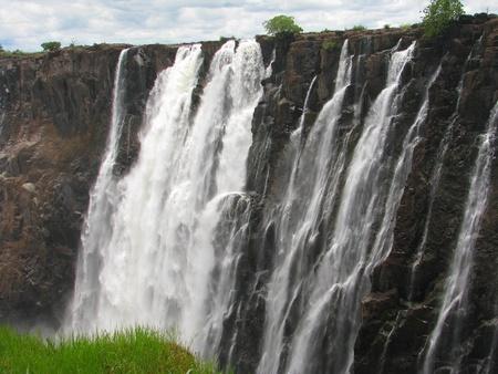 zimbabwe: Majestic Cataratas Victoria en el río Zambezi, en la frontera de Zambia y Zimbabwe Foto de archivo