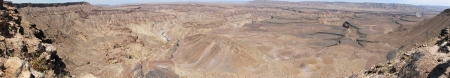 Panorama of Fish River Canyon in Namibia photo