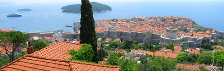 Panorama of Dubrovnik old city