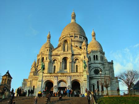sacre coeur: Basilique du Sacré-C?ur au crépuscule, Paris, France