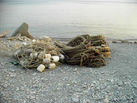 exterminating: fishings cordages ashore exterminating Stock Photo