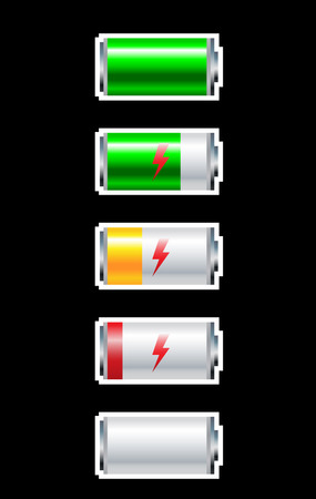 discharge: Presentation full cycle discharge of  battery for mobile device Illustration
