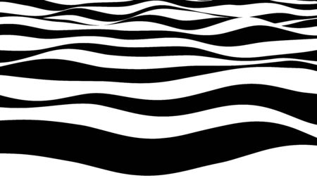 Abstract wave of white and black curved lines. Hallucination. Optical illusion. Twisted illustration. Futuristic background of lines. Dynamic wave. Vector illustration. 일러스트