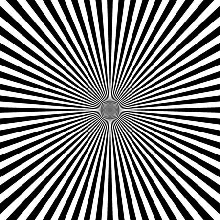 Optical illusion of infinity. Abstract white and black lines. Hallucination. Futuristic background of lines. Vector illustration