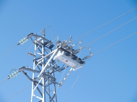 Power line circuit breaker photo