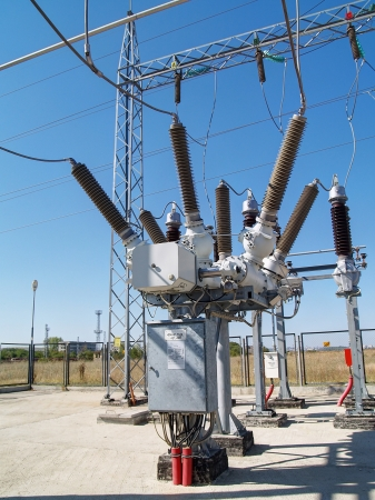 electricity substation: High voltage electrical substation