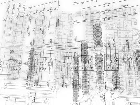 schéma d'ingénierie de connexion des équipements d'automatisation