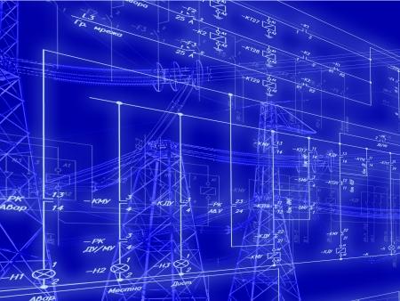 Schéma d'ingénierie de connexion des équipements d'automatisation Banque d'images - 20900939