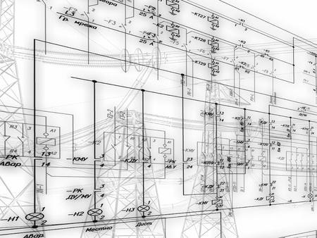 Esquema de Ingeniería de la conexión de equipos de automatización Foto de archivo - 20900941