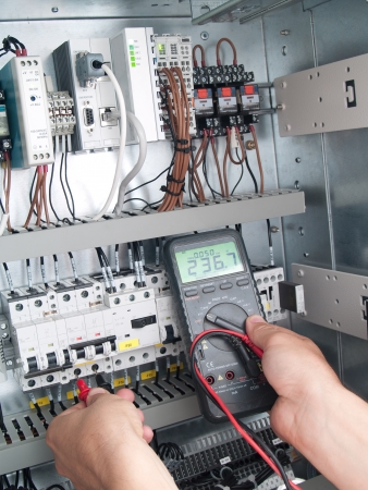 measuring instruments: Engineer makes maintenance of power network automation