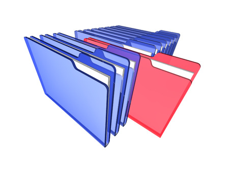 A row of folders photo