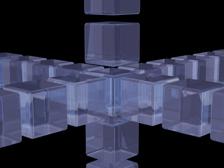 composed: abstract background composed by glass cubes