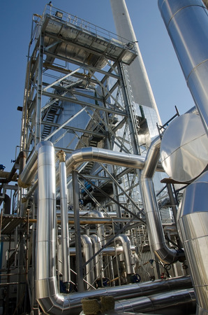 Oil heat exchangers Stock Photo