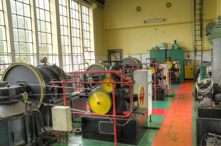 engine room: Machine room of the old power station