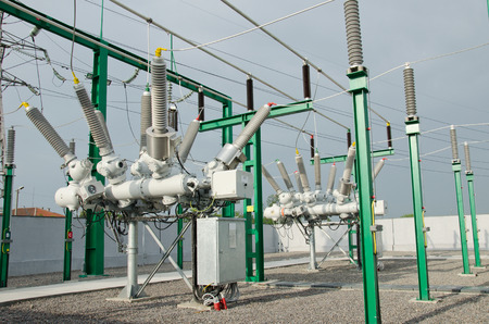 substation: High voltage electrical substation