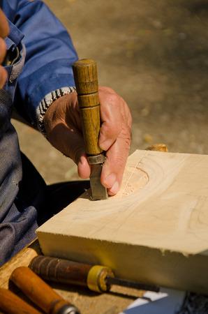 trinchante: las obras de creación de Carver en su estudio
