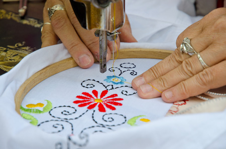embroidery: Textile embroidery machine