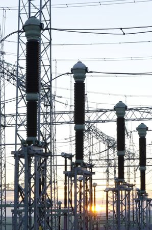 Electric power transmission lines, High voltage power transformer substation