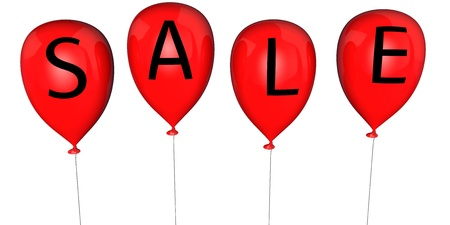 Balloons with an inscription - SALE Stock Photo - 12958266