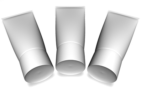 Tubes on a white background lie Stock Photo - 12958272