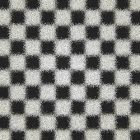 It is black a white structure from wool photo