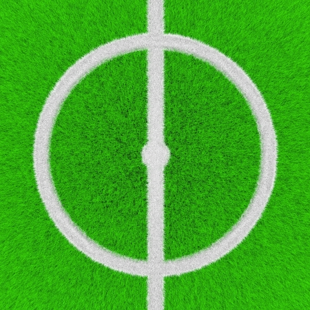 Football ground illustration - the top view illustration