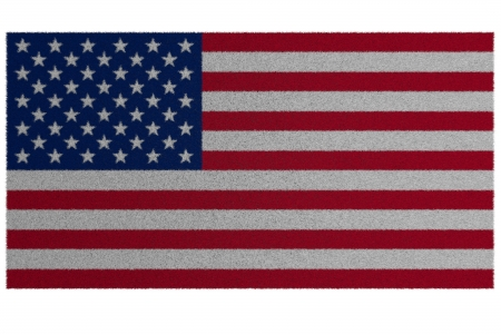 Oriental carpet, carpet from a woollen flag of America photo