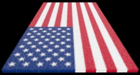 Oriental carpet, carpet from a woollen flag of America photo