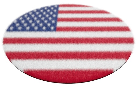 Woollen rug with the image of a flag of America photo