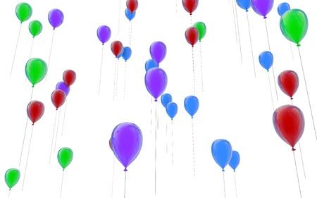 Balloons fly up upwards Stock Photo - 13873157