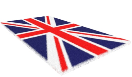 Rug, oriental carpet woollen with the image of a flag of England Stock Photo - 13873182